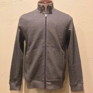 Calvin Klein Small Gray Full Zip Up Sweater Jacket